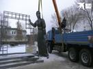 Появилось видео сноса памятника жуткой Аленке в Нововоронеже