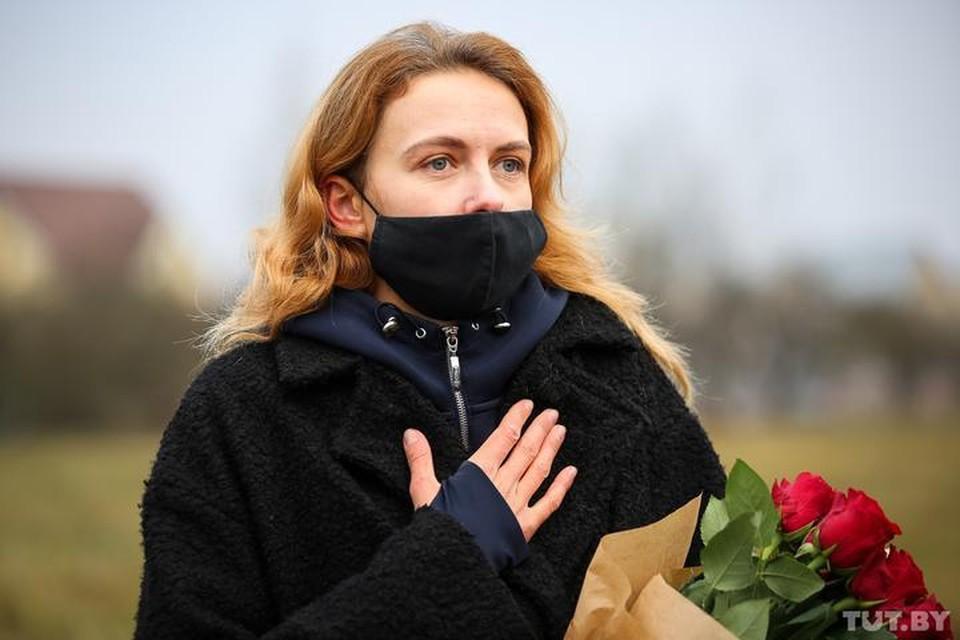 Ольга Хижинкова провела в заключении более 40 суток. Фото: tut.by.