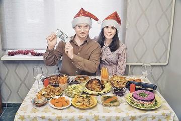Как накрыть новогодний стол из 10 блюд на тысячу рублей