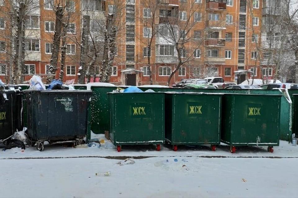Красноярские депутаты проверили, как в городе вывозится мусор. Фото: предоставлено пресс-службой Горсовета