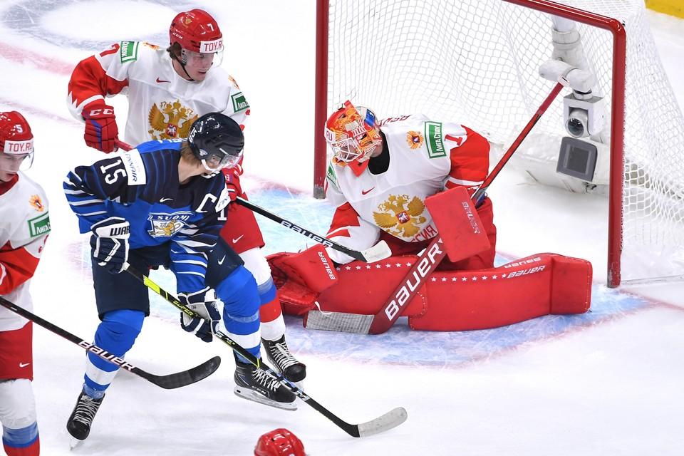Россия сыграла с Финляндией.