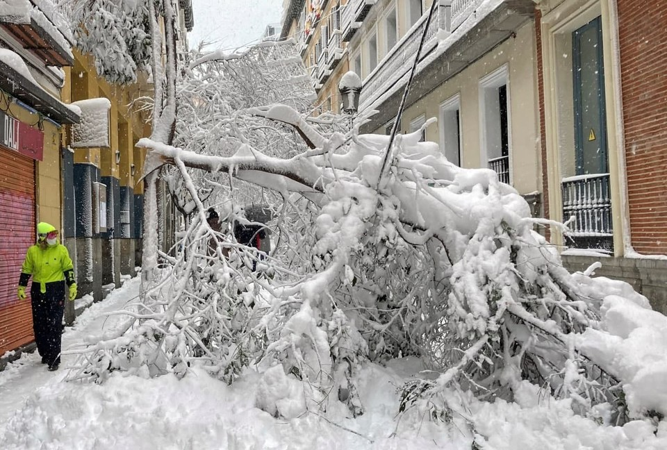 В Мадриде выпало очень много снега