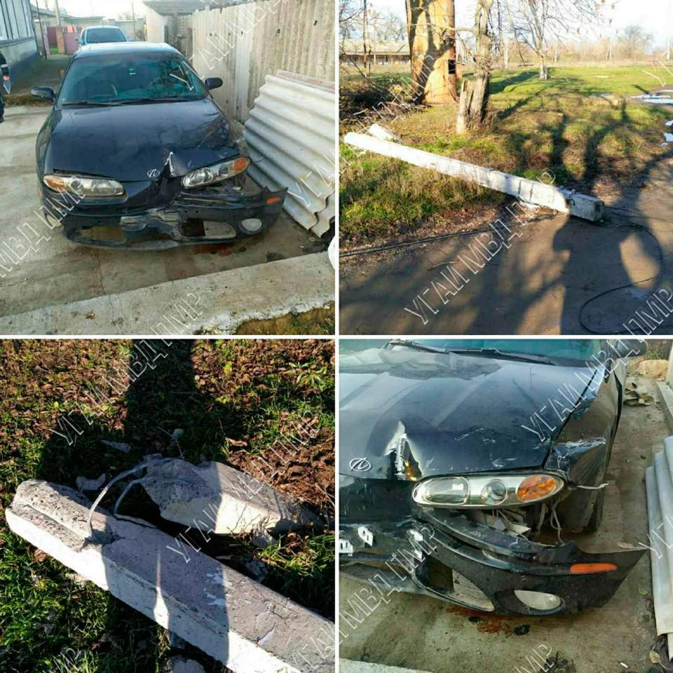 К счастью, в аварии никто не пострадал (Фото: МВД Приднестровья).