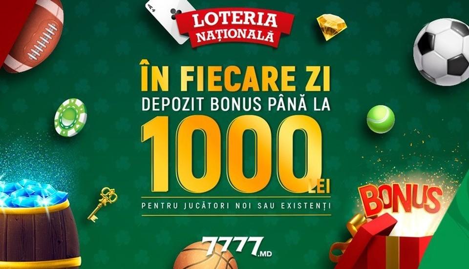 Kaждый день в январе Бонусы до 1 000 леев на 7777.md.
