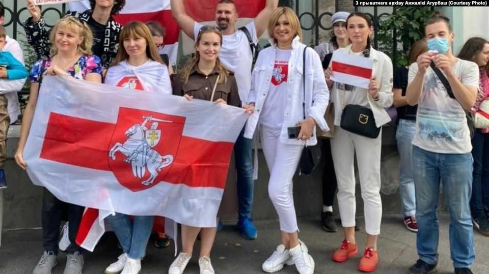 Анжелика Агурбаш - постоянная участница белорусских протестов в Москве. Фото: личный архив