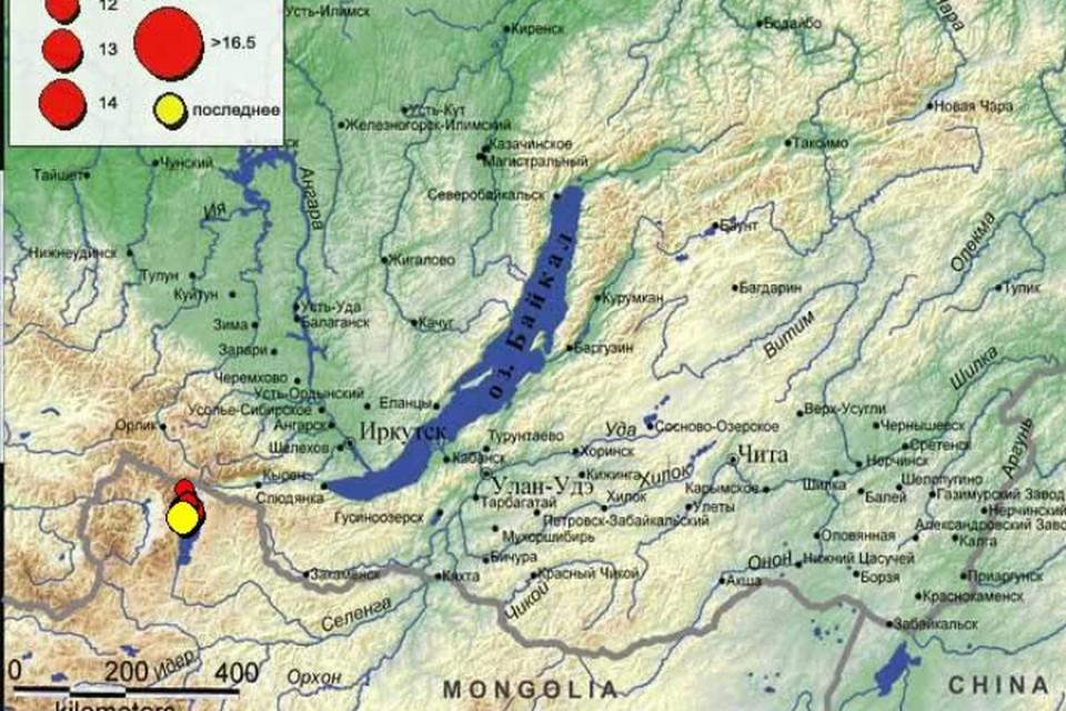Землетрясение в 2-3 балла произошло в ночь на 19 января в Иркутске. Фото: Байкальский филиал Единой геофизической службы Российской академии наук