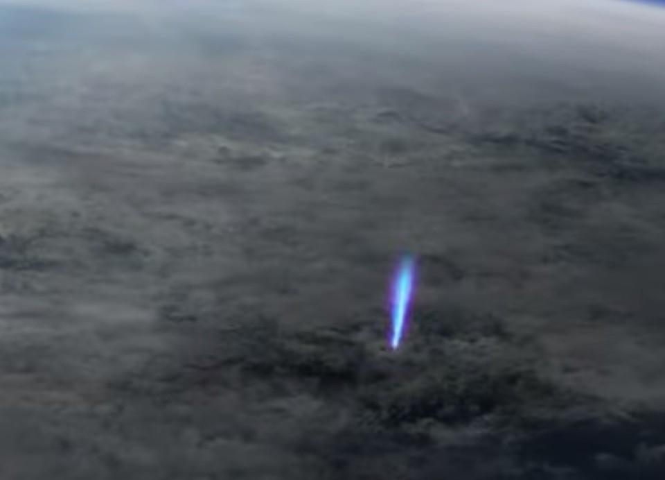 Редкие природные явления сняли с борта МКС. Фото:скриншот видео.