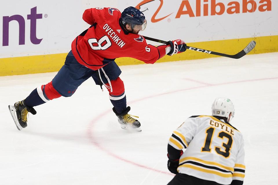 Александр Овечкин буквально выпрыгнул на лед и стал героем матча с «Бостоном»