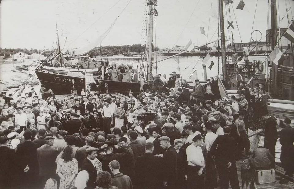 Так в Калининграде провожали первые рыболовные экспедиции.