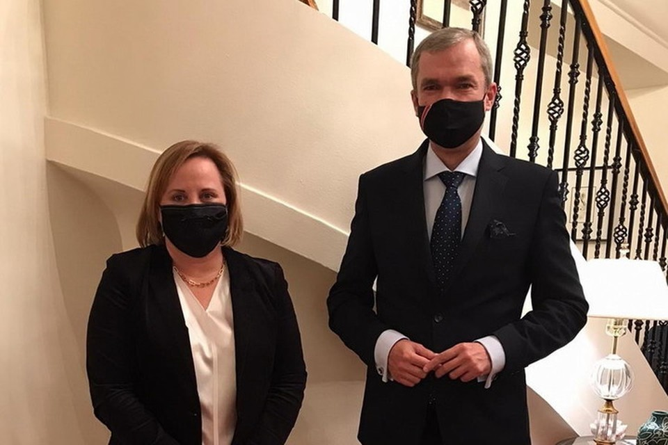 Латушко встретился с назначенным послом США в Беларуси Фишер. Фото: usembassy.minsk