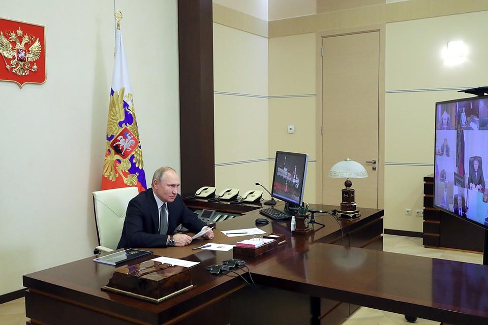 Владимир Путин собрал ежегодное Всероссийское совещание судей. Фото: Михаил Климентьев/ТАСС