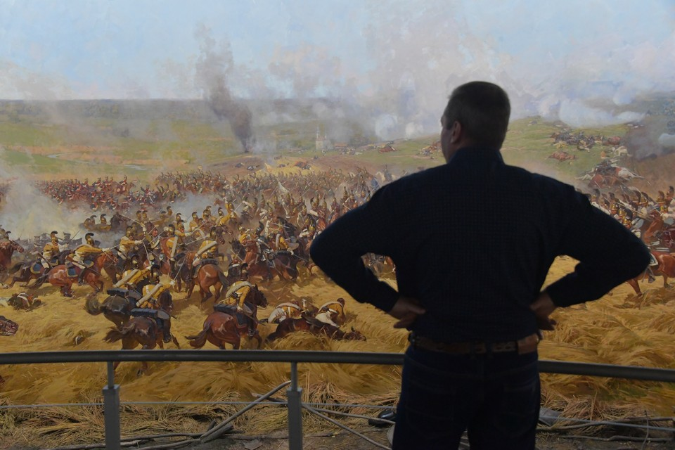"""Москва. В музее-панораме """"Бородинская битва""""."""