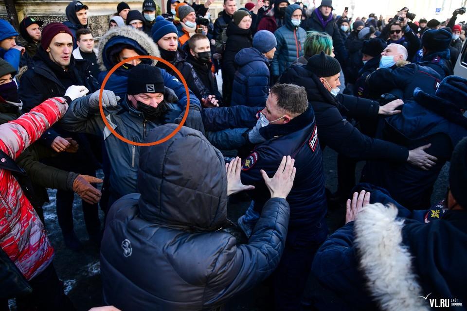 Момент митинга во Владивостоке 23 января 2021 года. Фото: сайт VL.ru
