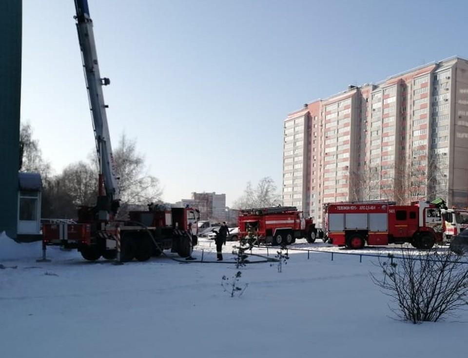 Из здания вывели 11 человек