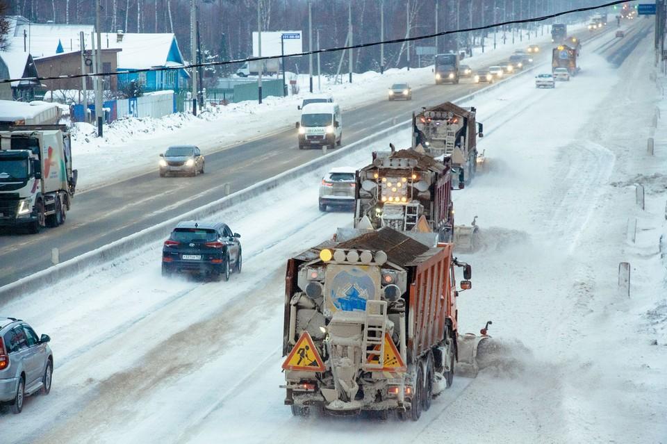 Уборка идет непрерывно. Фото: ФКУ Упрдор Москва – Нижний Новгород
