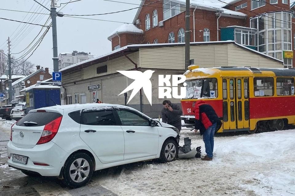 ДТП случилось в центре Краснодара.