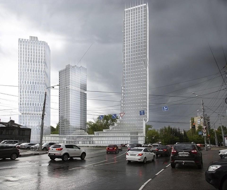 Технопарк и комплекс апартаментов хотят построить на площади Сенной. Фото: Министерство строительства Нижегородской области