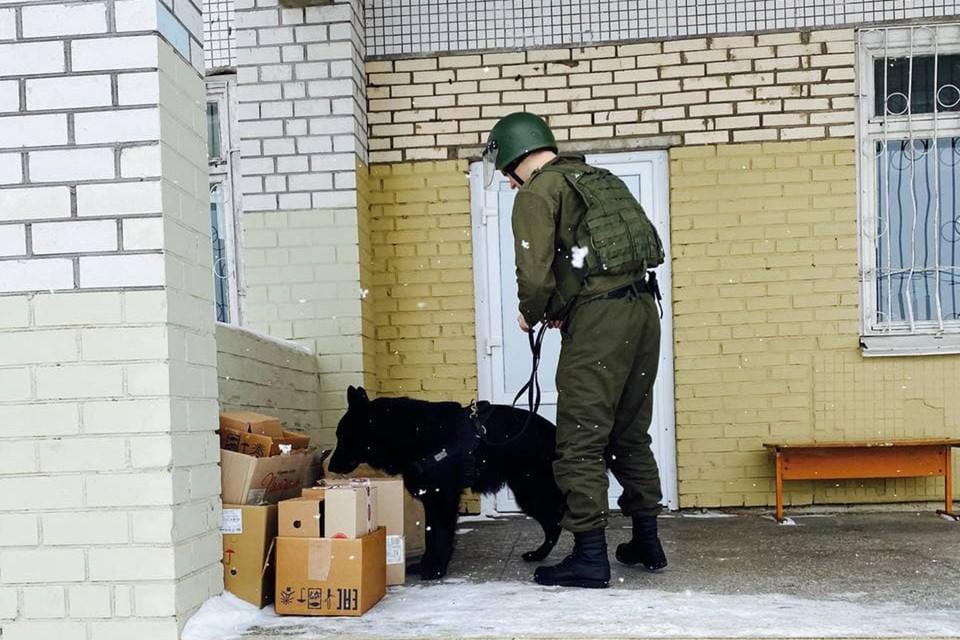 В школе в Жодино ищут взрывное устройство. Фото: ГОВД Жодино.