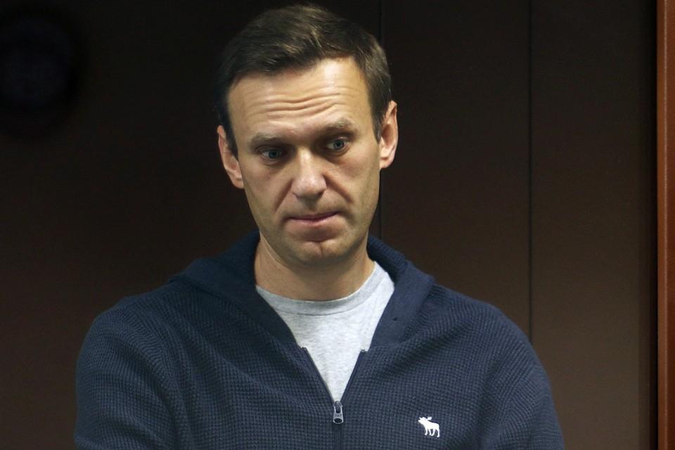 Алексей Навальный во время судебного процесса.