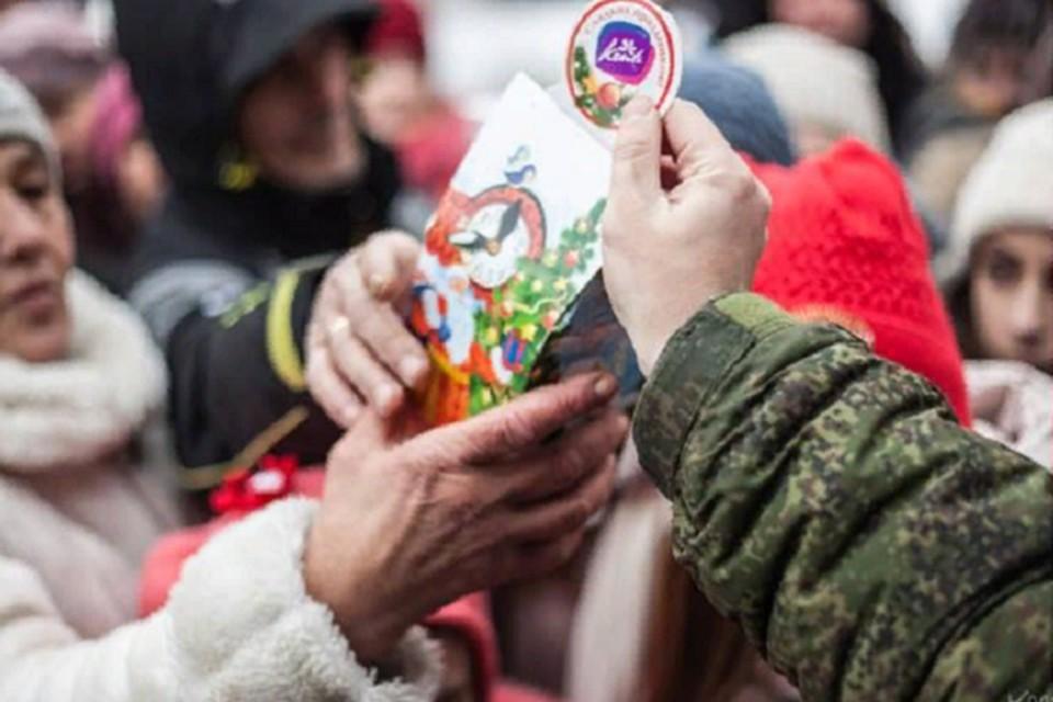 Самые дорогие сердцу солдата - поздравления от детишек. Фото: НМ ДНР