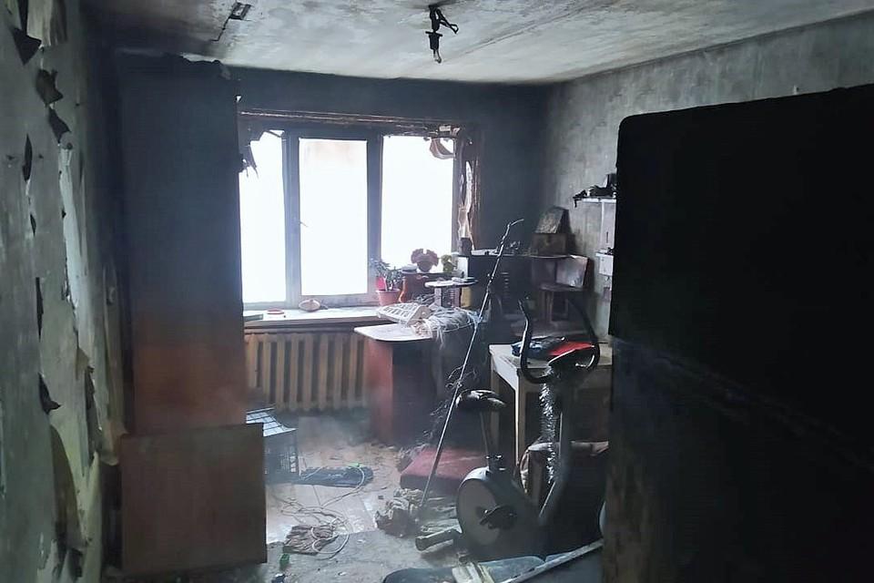 Возможно, причиной пожара стали игры детей с огнем.