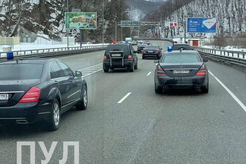 Фотофакт: вот как выглядит кортеж Лукашенко в Сочи.