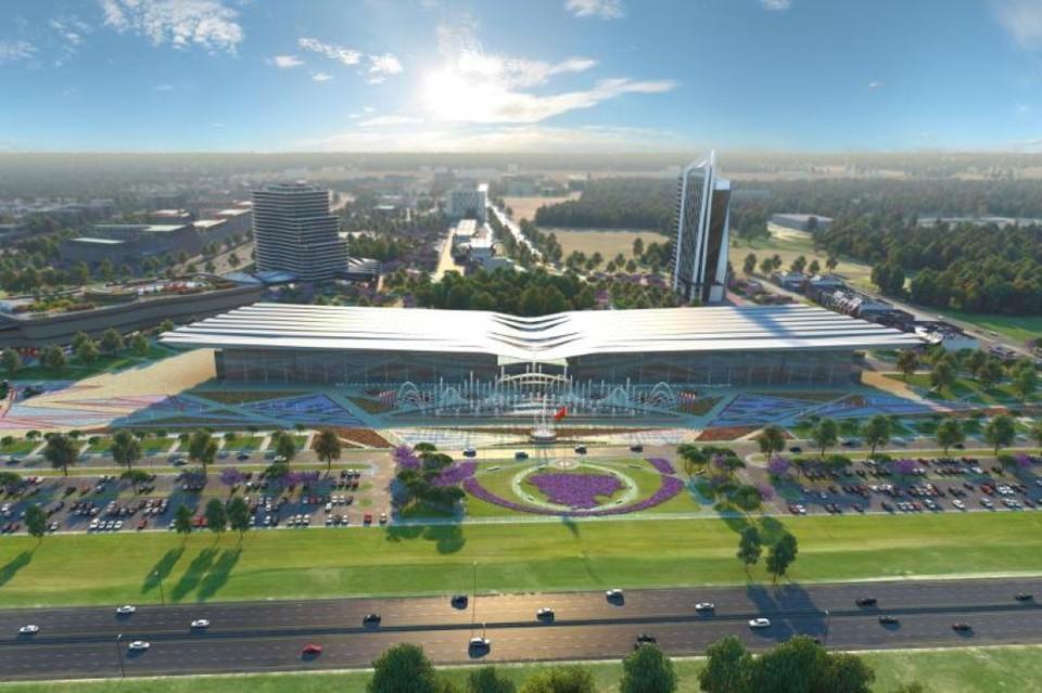 Так выглядит на рендере Белорусский национальный выставочный центр. Фото: inform.kz