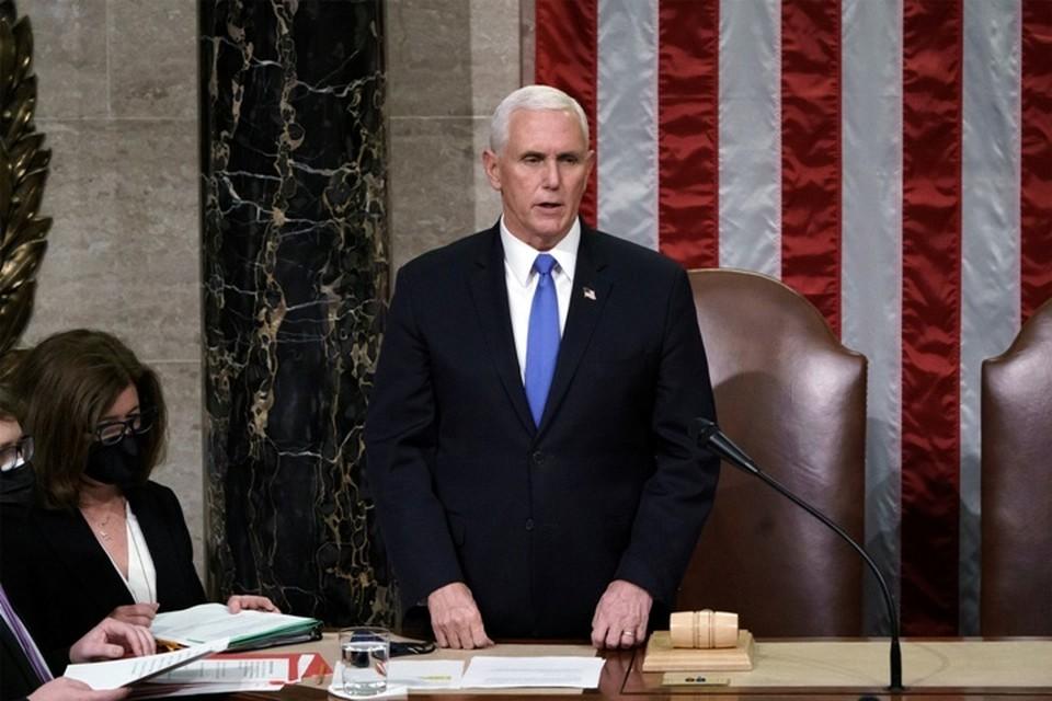 Майкл Пенс в день штурма Капитолия председательствовал на заседании конгресса