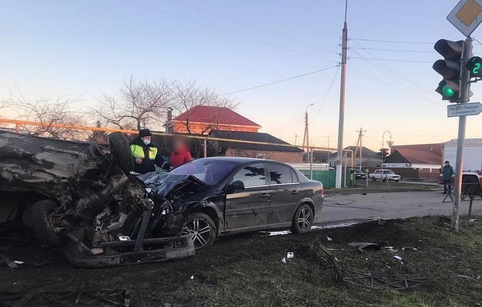 Кадры с места аварии. Фото: СУ СК по Краснодарскому краю.
