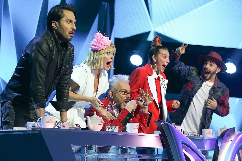 """Члены жюри телешоу """"Маска"""" мастерски изображают шок. Фото: НТВ"""