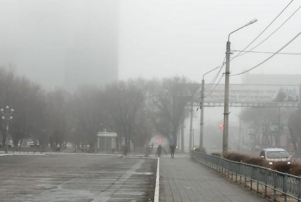 Туман возник по тем же причинам, по которым он образовывается летом