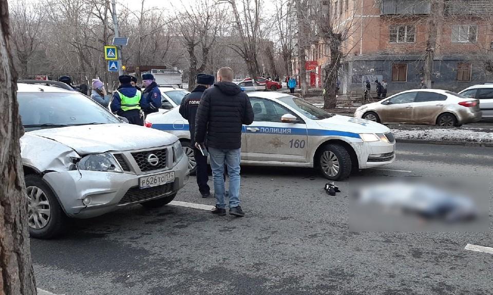 На месте происшествия работают сотрудники полиции. Фото: vk.com / achnov