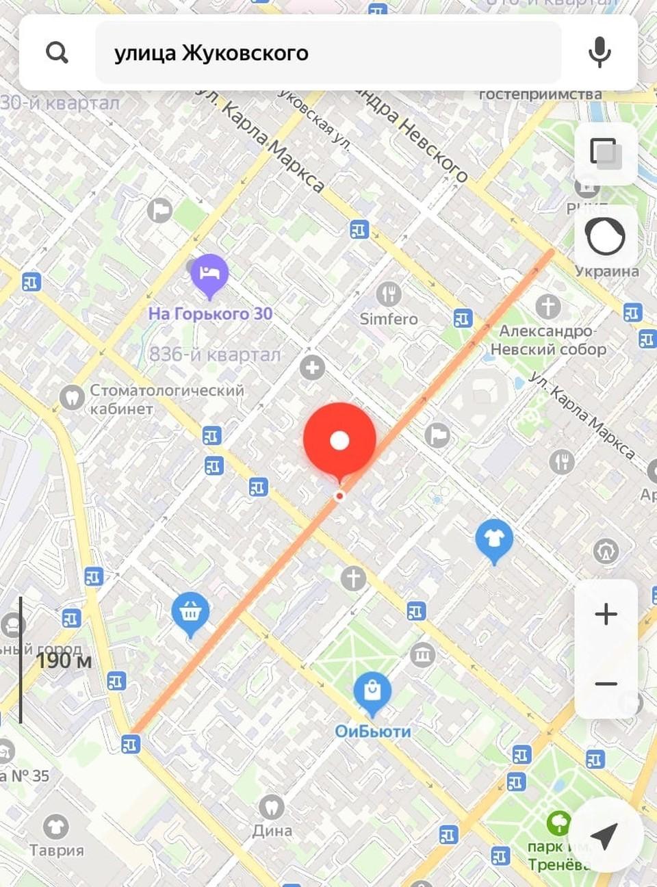 Движение транспорта по улице Жуковского закрыли с 27 марта