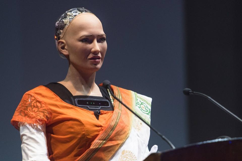 Человекоподобный робот София был создан гонконгскими инженерами.