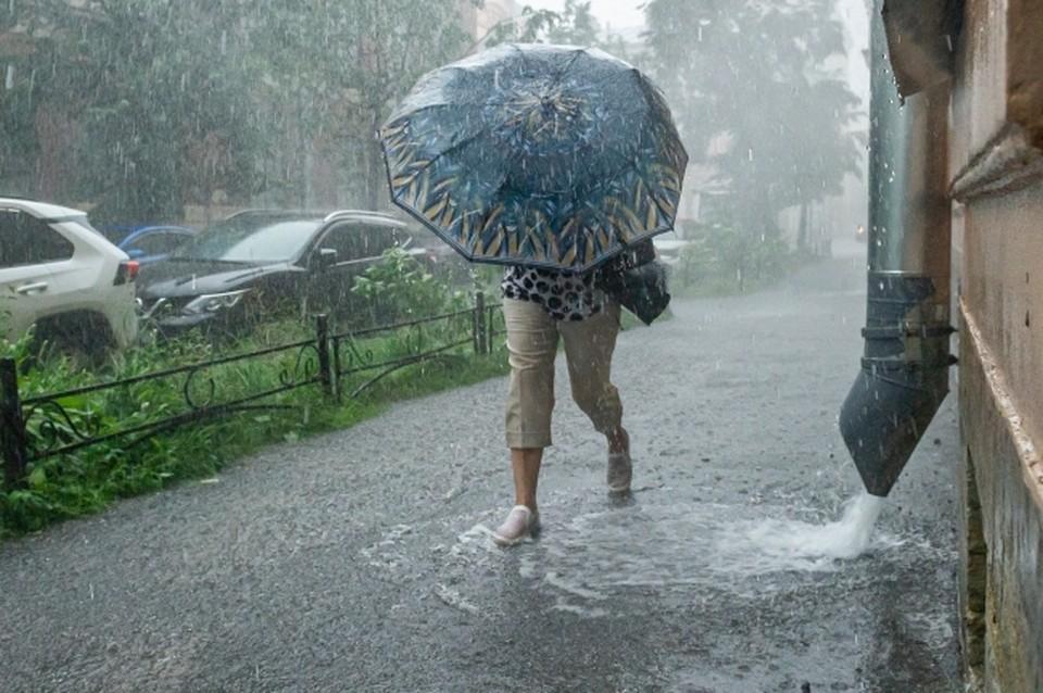 Зонтики можно далеко не убирать до середины месяца