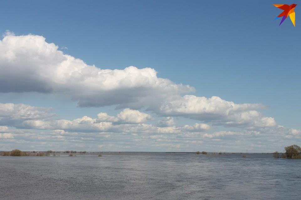 В Рязанскую область приходит большая вода.