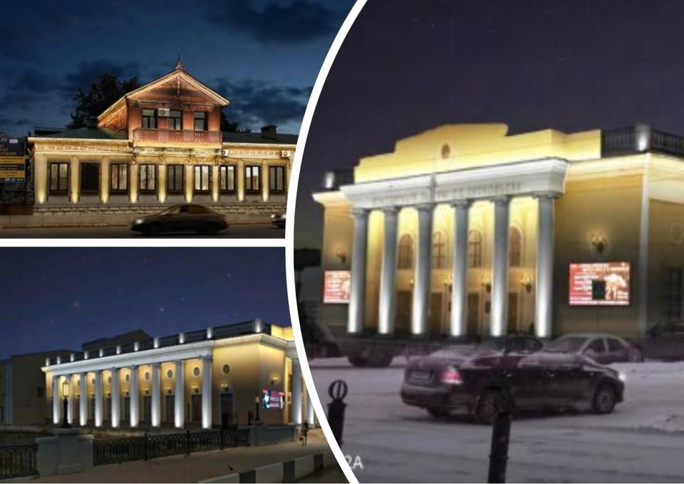 Подсветка на зданиях будет выполнена в единой концепции. Фото: рабочая документация к госзакупке
