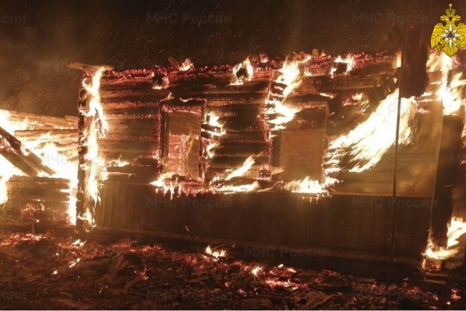 В брянской деревне на пожаре погиб молодой мужчина.