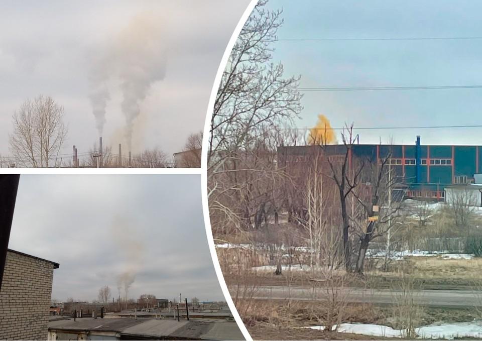 Жители Ленинского района и Копейска задыхаются. Фото: Вредные выбросы г. Челябинск/vk.com