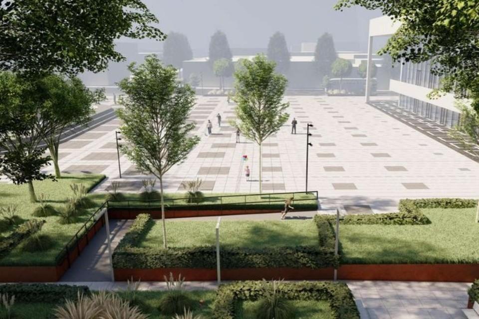 Так будет выглядеть площадь им. Ленина после ремонта. Фото: пресс-служба администрации Симферополя
