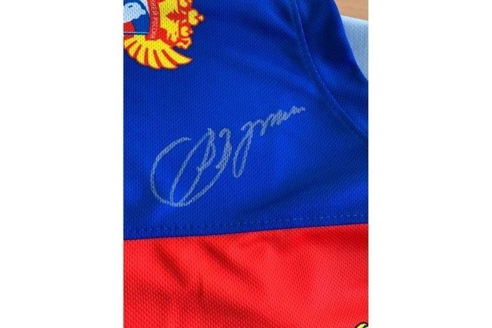 Свитер с автографом Владимира Путина получила команда юных хоккеистов из Ижевска. Фото: /vk.com/dimka_dementev