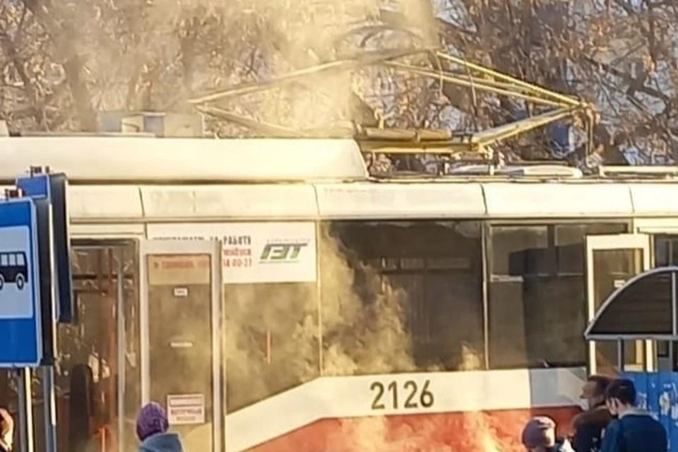 "Произошло короткое замыкание. Фото: ""Инцидент Новосибирск""."
