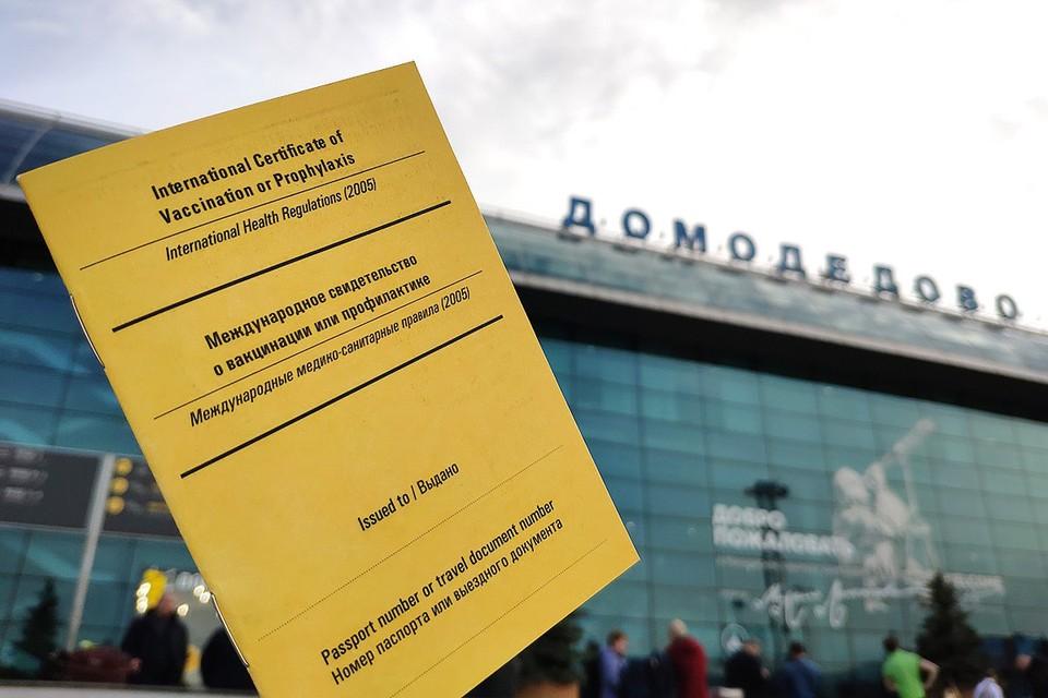 """В """"Домодедово"""" началась выдача паспортов вакцинации по стандартам Всемирной организации здравоохранения. Фото: пресс-служба """"Домодедово"""""""