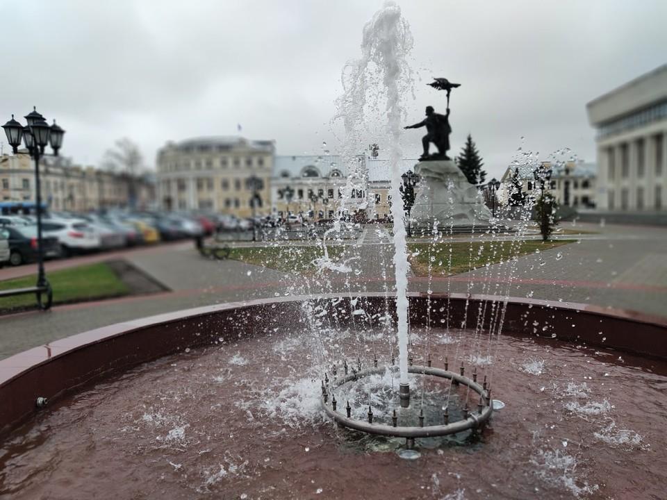 Фонтан на Старом Торге в Калуге.