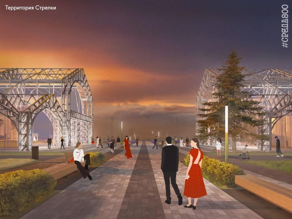 На Стрелке началось благоустройство территории к 800-летию Нижнего Новгорода. Фото: Среда 800