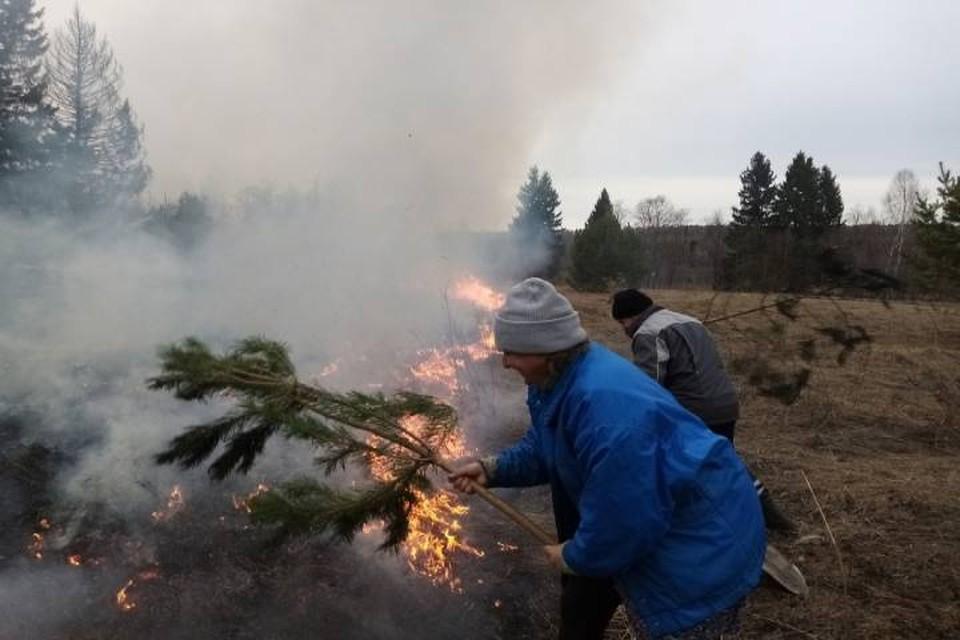 Жители деревни Малиновка помогли пожарным потушить пожар, который мог нанести большой ущерб. Фото: https://43.mchs.gov.ru/