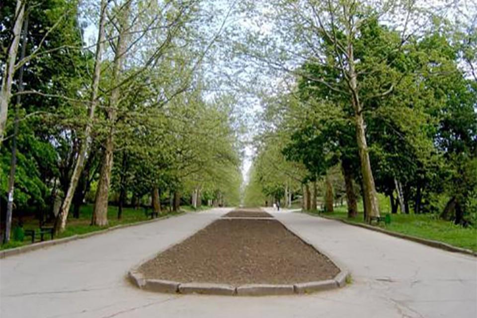Сквер памяти жертв Чернобыльской катастрофы на улице Трандафирилор в Кишиневе. Фото: IPN