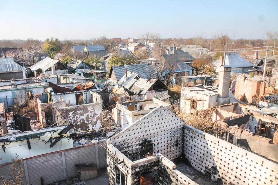 Обстрелам подверглись районы поселков и сел ЛНР (архивное фото)