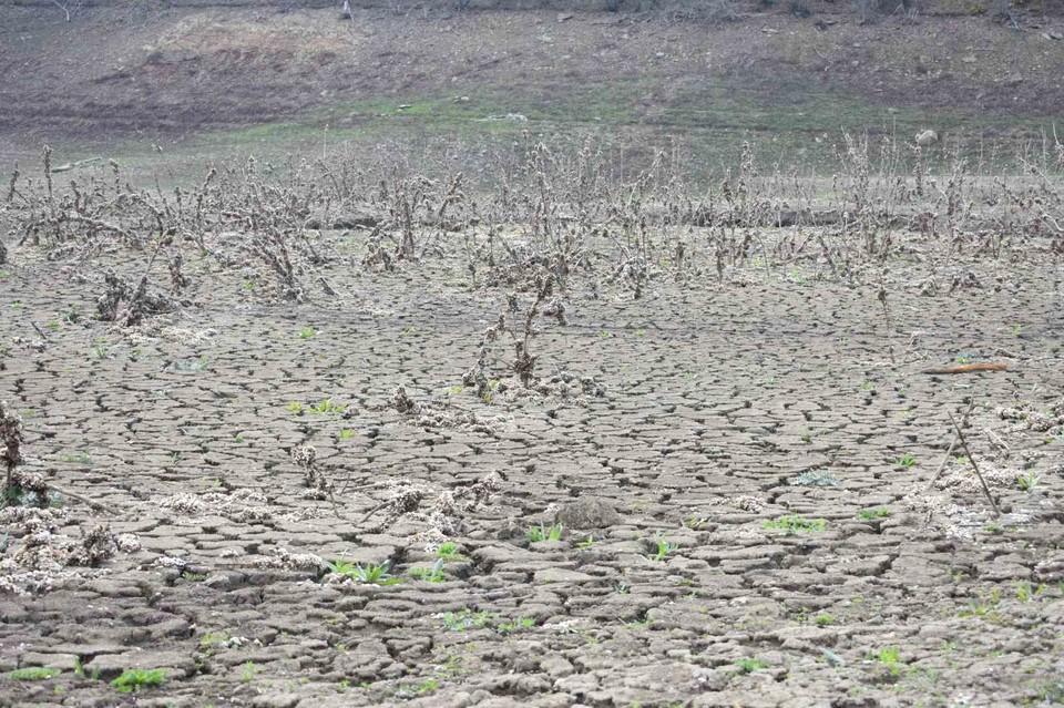 Изобильненское водохранилище обмелело на три четверти. Фото: Администрация Алушты