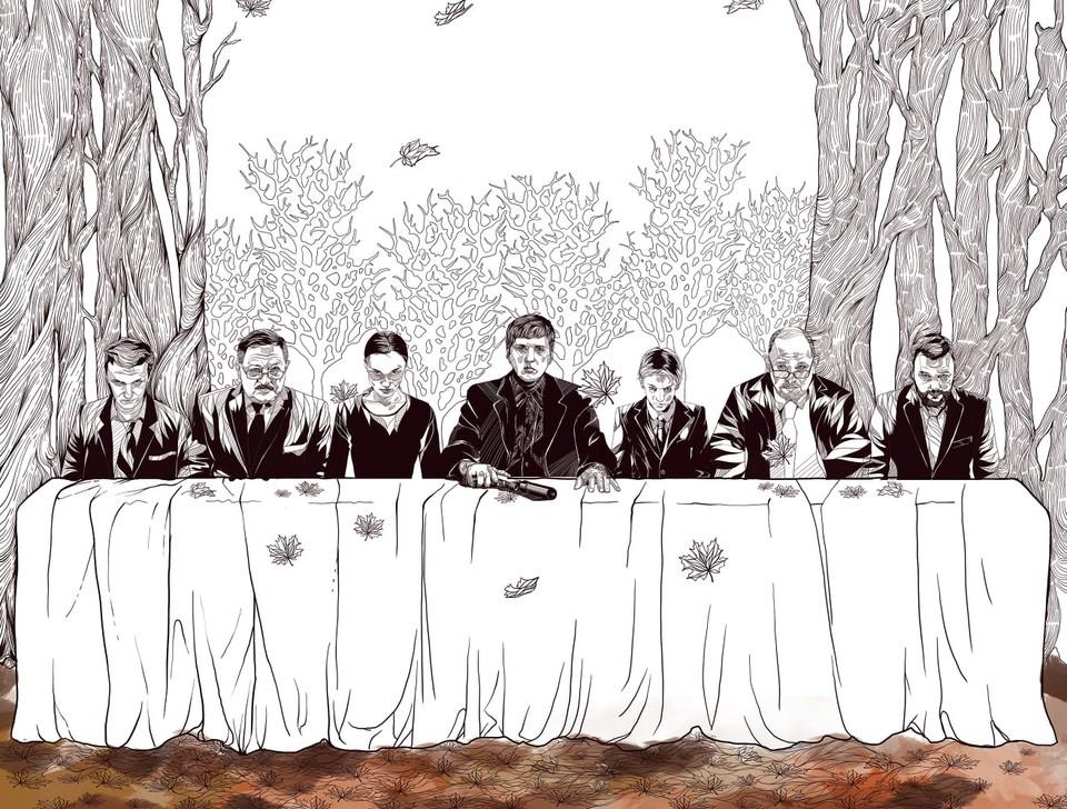 """Фрагмент первого официального постера сериала """"Осенние визиты"""", 2019 (18+). Автор - Антон Лапин."""
